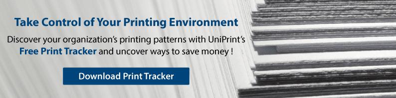 UniPrint print tracker tool