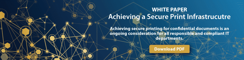 white paper achieving secure print infrastructure