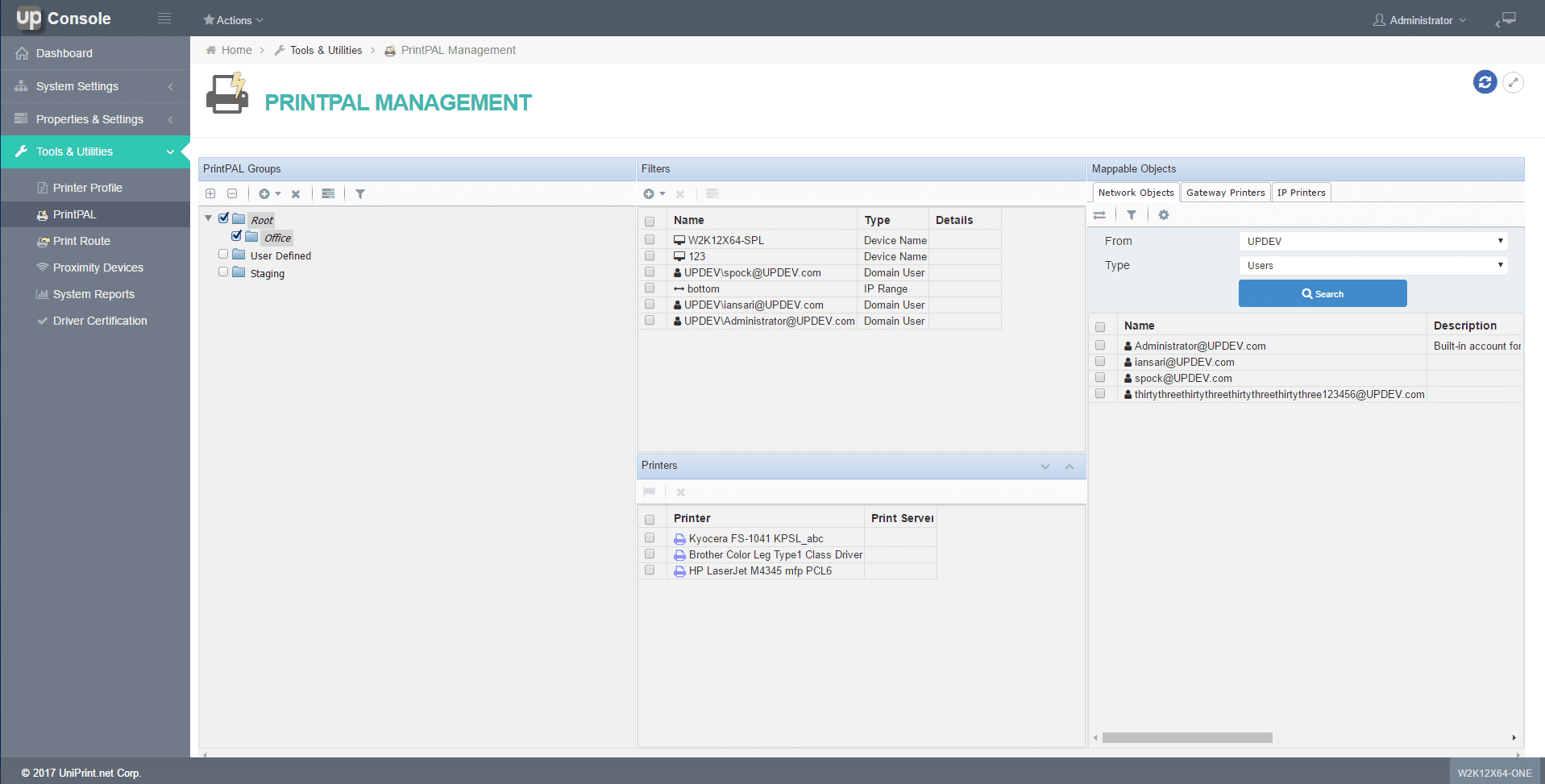 Serverless Printing PrintPAL functionality