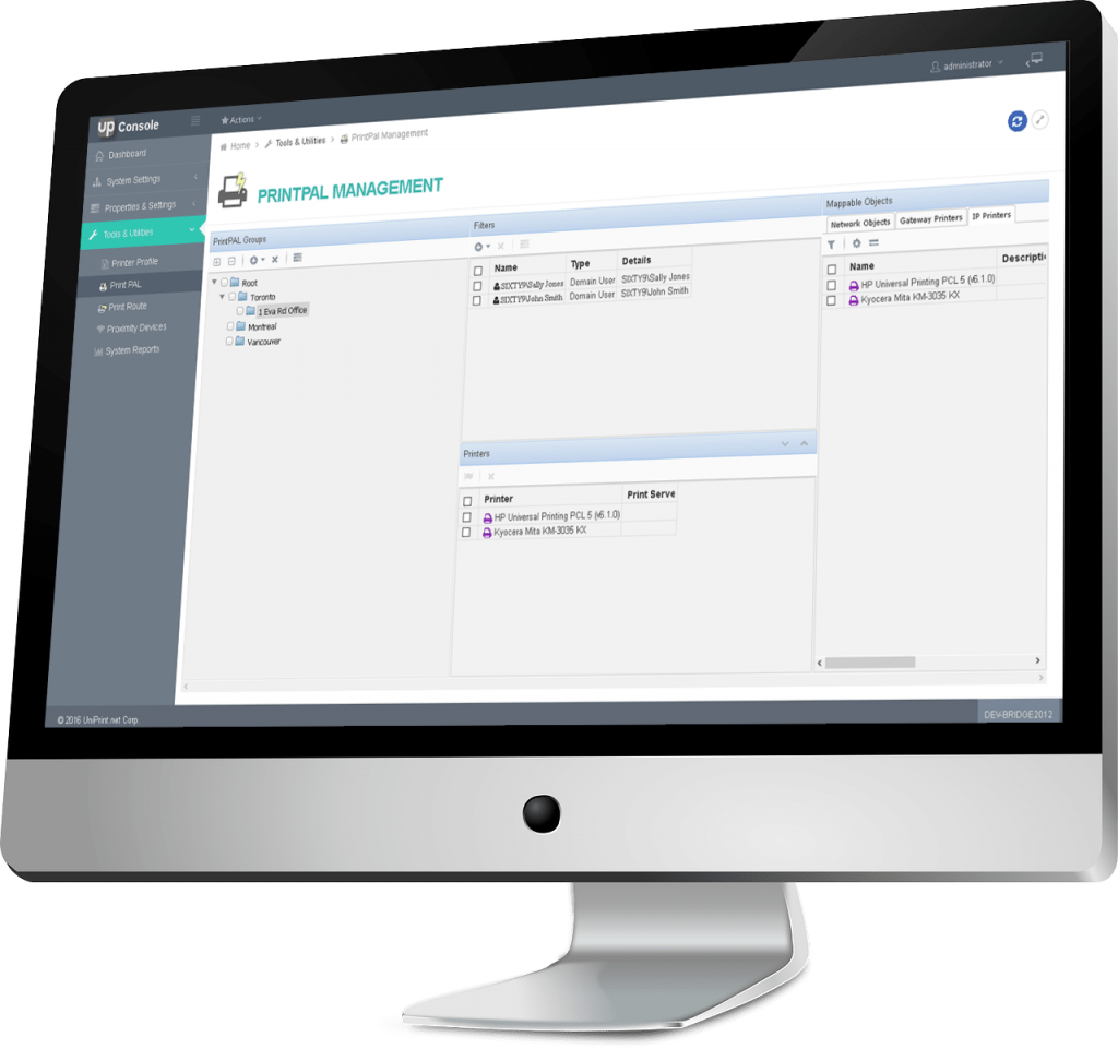 UniPrint Infinity Console simplify print management