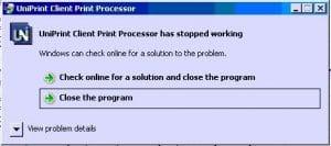 UniPrint Client Print Processor