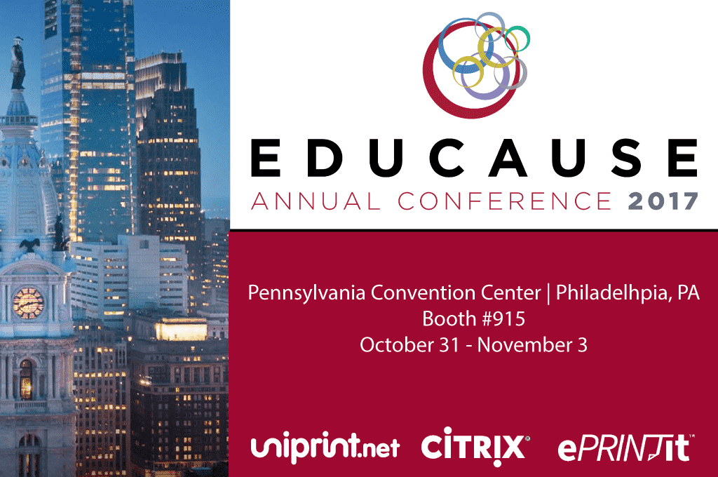 Educause 2017 Citrix Uniprint cloud printing tradeshow