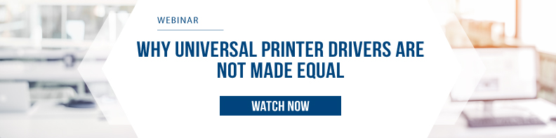 Why Universal Printer Drivers are Not Made Equal
