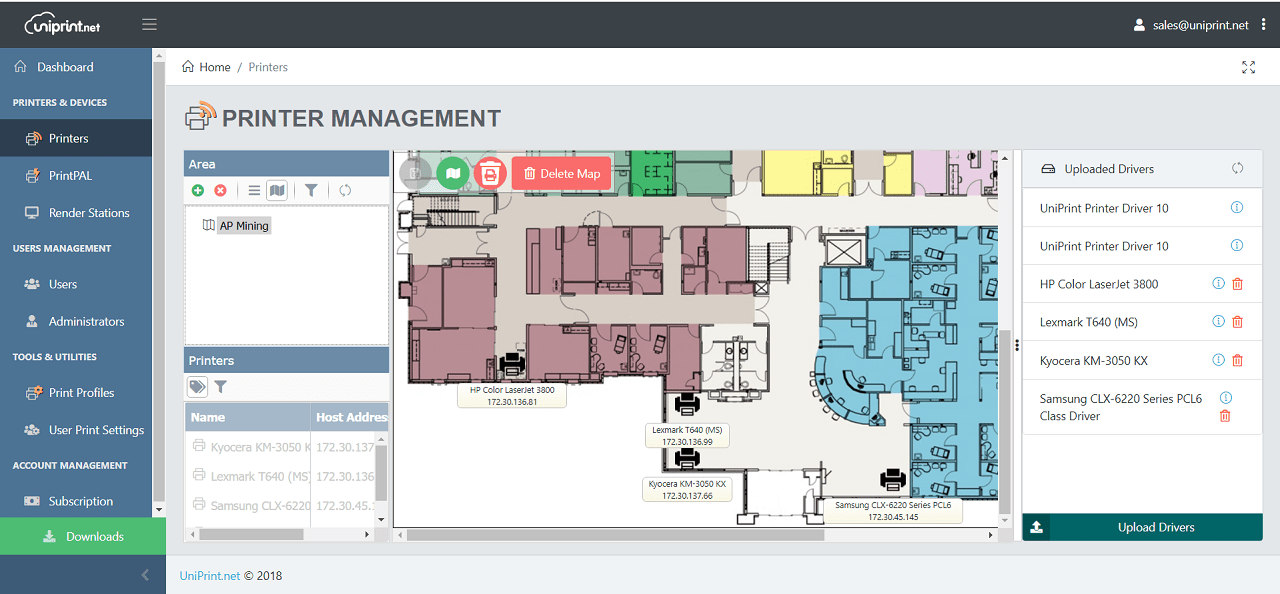 UniPrint Cloud SAAS Serverless Printer Mapping-min