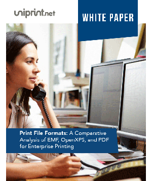 Print File Formats: A Comparative Analysis of EMF, OpenXPS and PDF for Enterprise Printing